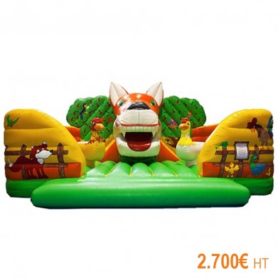 Fox Articulated Inflatable Castle